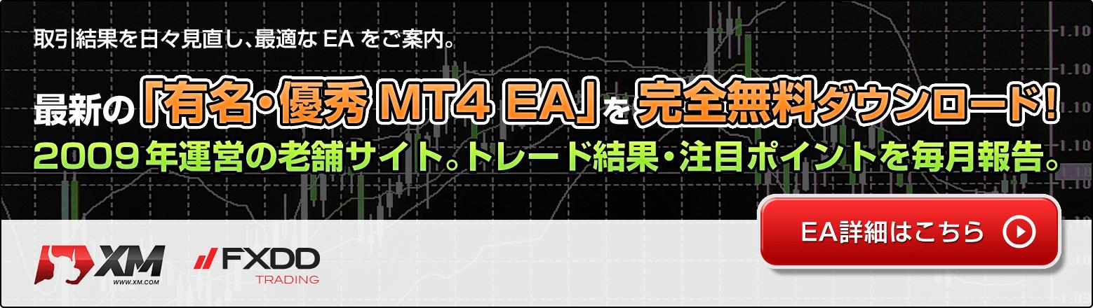 MT4 EA(Expert Advisor)無料配布サイト。TOP画像